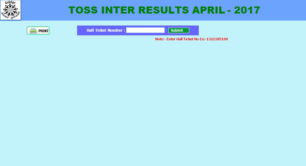 Telangana TOSS Inter Results 2017 Declared at telanganaopenschool.org