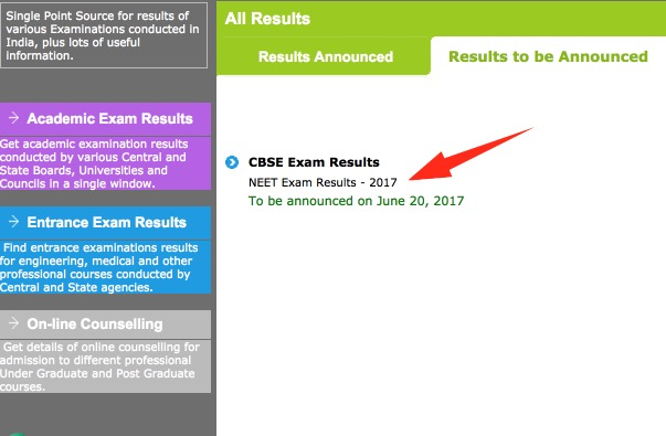 cbse neet result