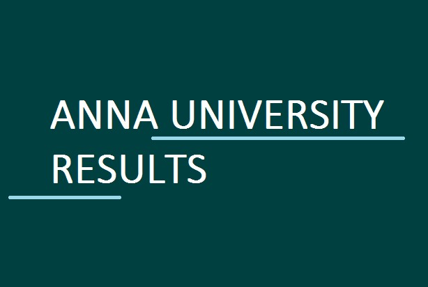 Anna University Results 2017