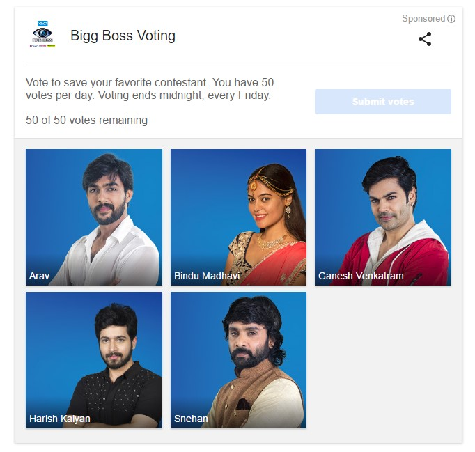 Bigg Boss Vote Finals