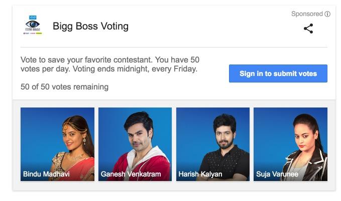 Bigg Boss Vote