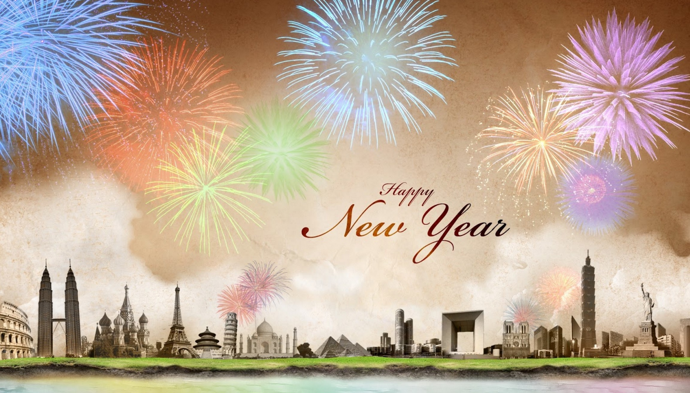 Happy New Year 2018 Crackers Wallpaper