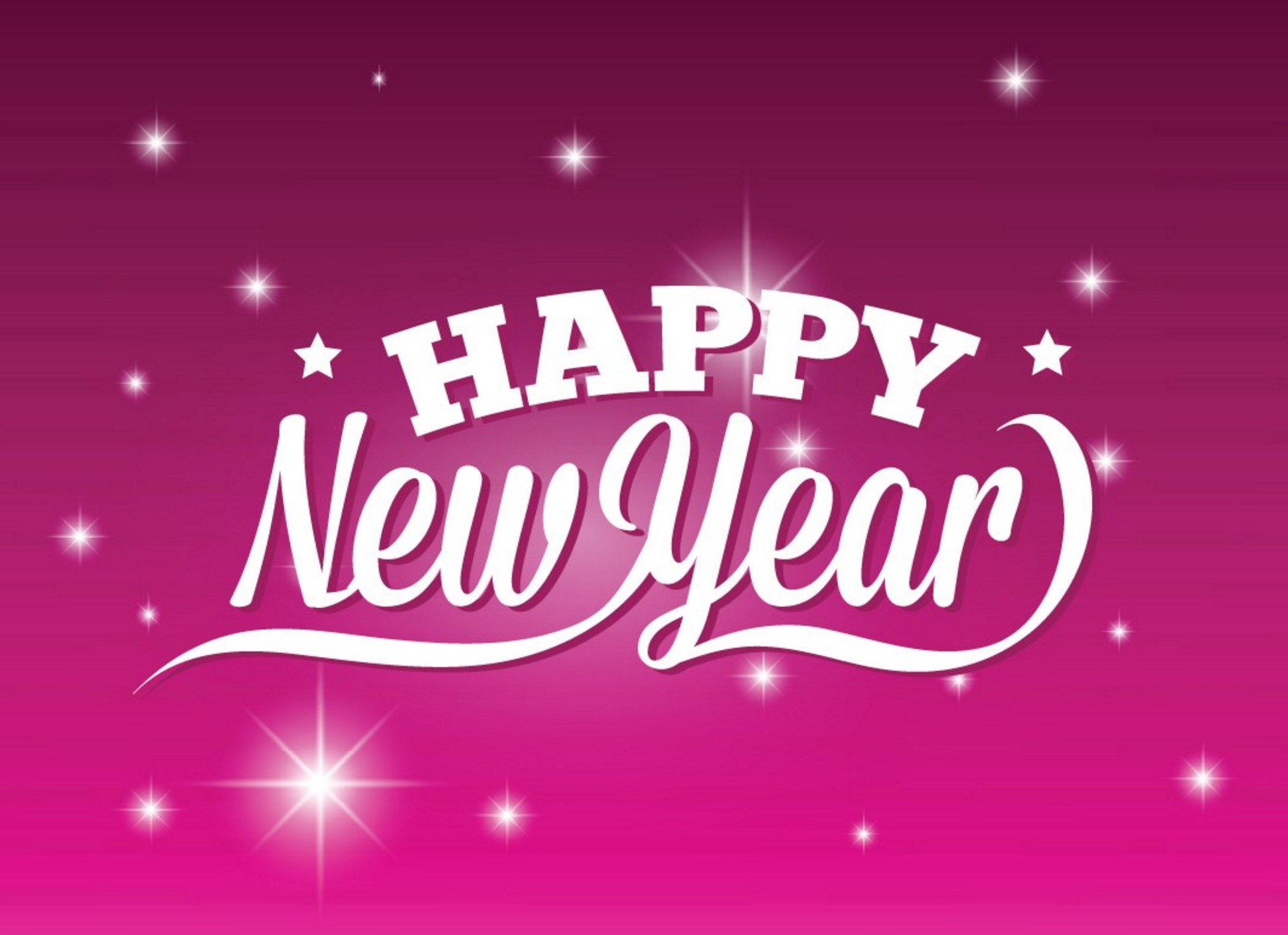 Happy New Year Pink Wallpaper