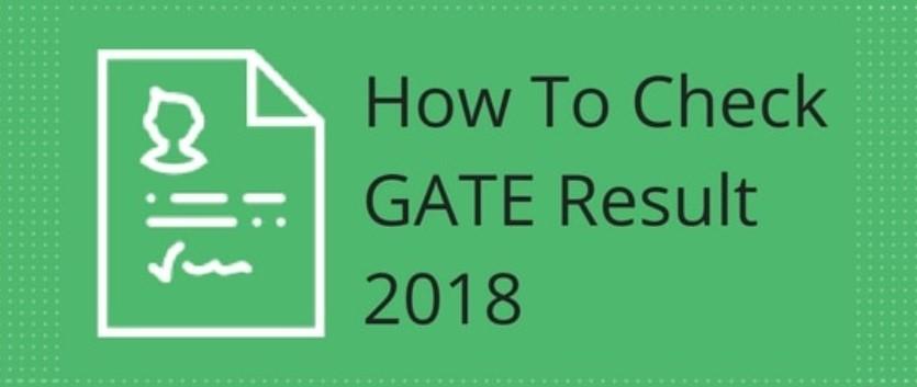 GATE result 2018